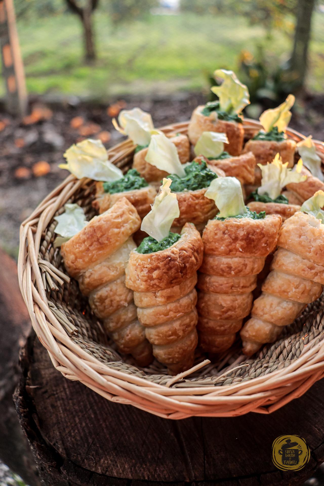 Uova,bacon e fagioli - Carotine di sfoglia - All rights reserved